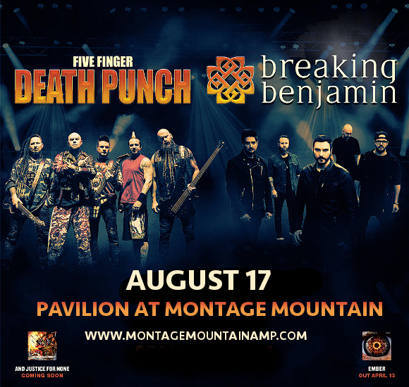 Five Finger Death Punch & Breaking Benjamin at Pavilion at Montage Mountain
