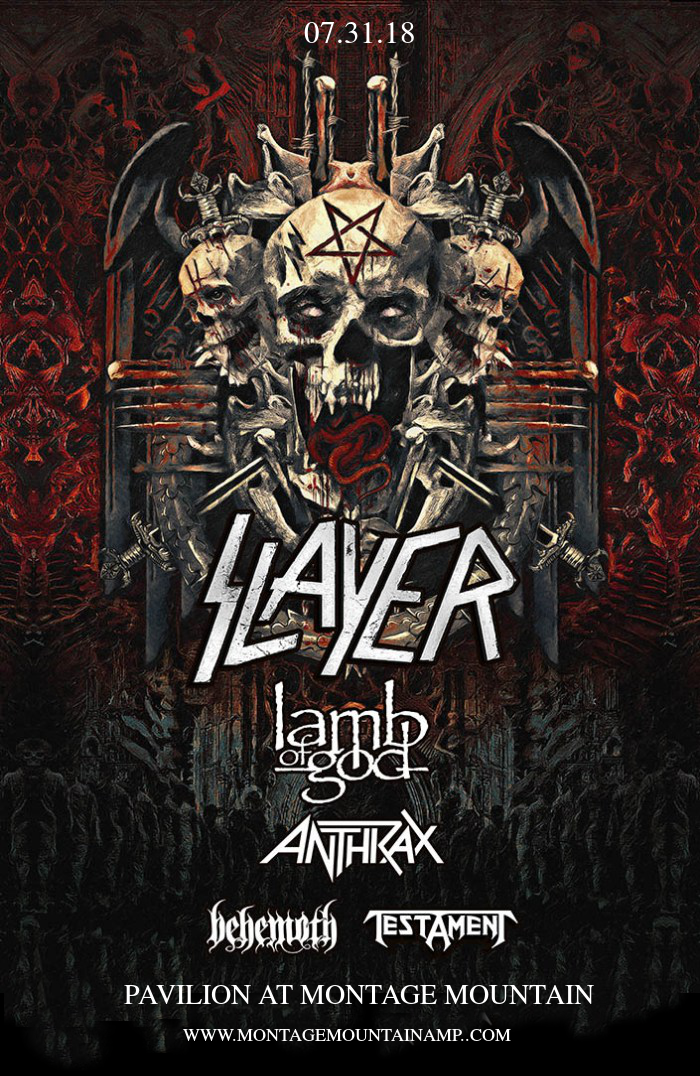 Slayer, Lamb of God & Anthrax at Pavilion at Montage Mountain