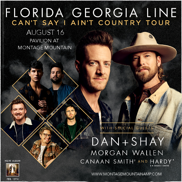 Florida Georgia Line, Dan and Shay & Morgan Wallen at Pavilion at Montage Mountain