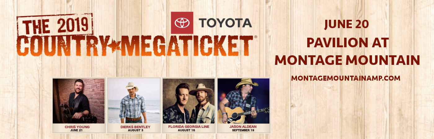 2019 Country Megaticket Tickets (Includies All Performances) at Pavilion at Montage Mountain