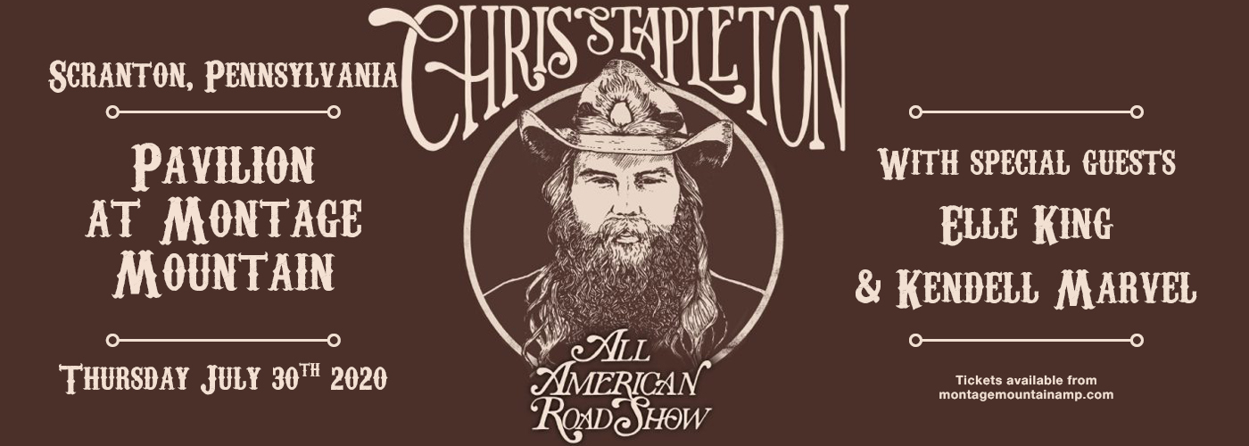 Chris Stapleton [CANCELLED] at Pavilion at Montage Mountain